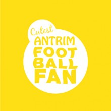 Cutest Antrim Football Fan Baby cloth
