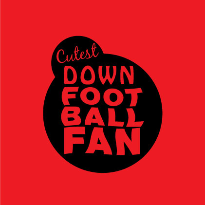 Cutest Down Football Fan baby cloth