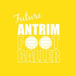 Future Antrim Footballer baby cloth