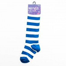 Blue & White Baby Socks