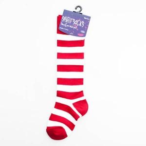 Red & White Baby Socks