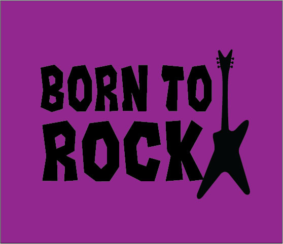 personalised baby clothes born to rock