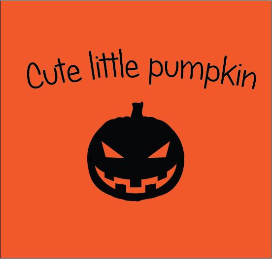 cute little pumpkin halloween