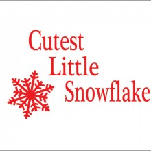 cutest little snowflake personalised baby clothes