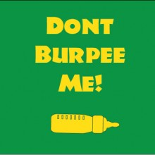 don't burpee me personalised baby clothes