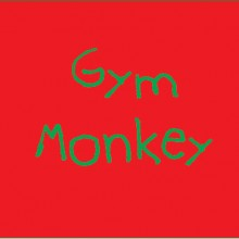 personalised baby clothes gym monkey