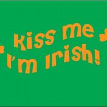 kiss me I'm irish baby clothes gift