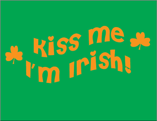 kiss me I'm irish baby clothes gift