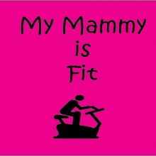 my mammy is fit personalised baby clothes