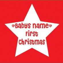 personalised baby clothes baby name first christmas