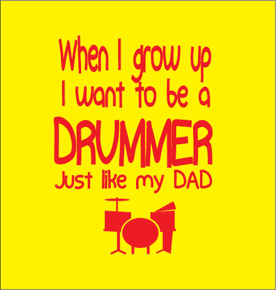 personalised baby clothes gift when i grow up i want to be a drummer just like my dad
