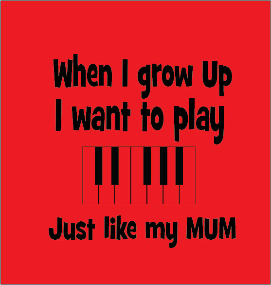 personalised baby clothes gifts when i grow up i want to play just like my mum piano