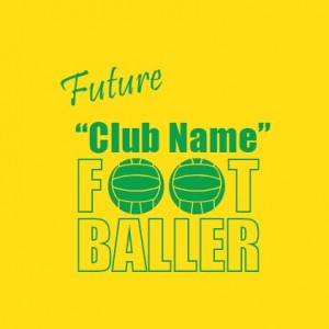 future club footballer personalised baby clothes