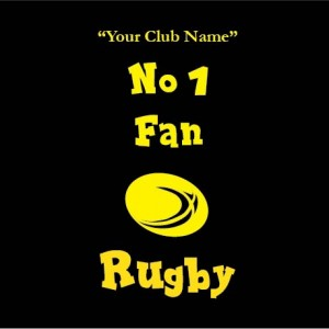 my clubs no. 1 fan rugby personalised baby clothes