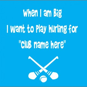 when i am big i want to tplay hurling for