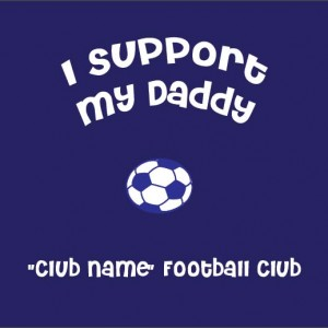 i support daddy soccer baby clothes