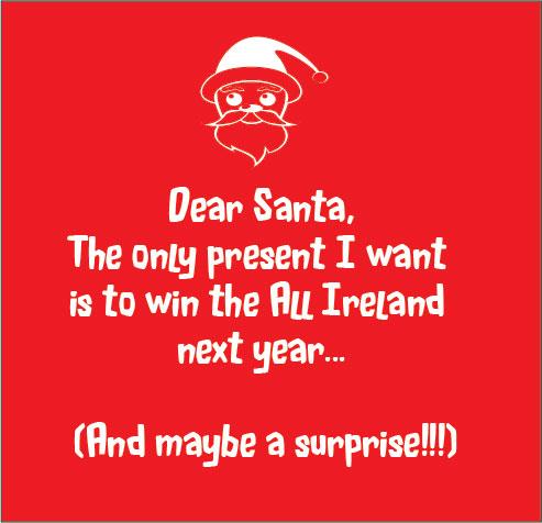 dear santa All I want for Christmas Cork