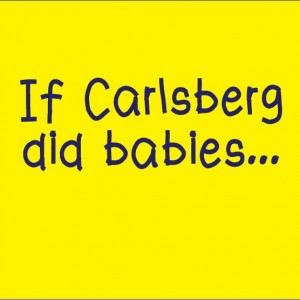 personalised baby clothes if carlsberg did babies