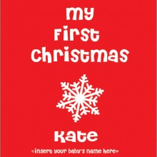 personalised baby clothes my first christmas