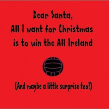 dear santa all i want for christmas is to win the all ireland