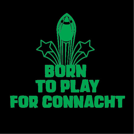 personalised baby clothes born to play for connacht
