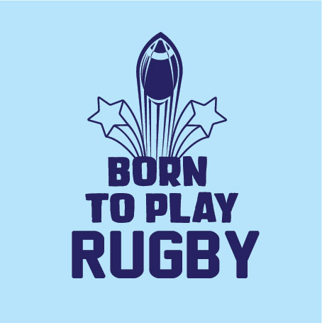 born to play rugby personalised baby clothes