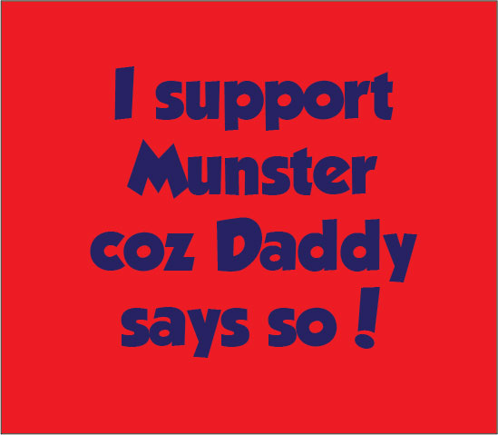 Support Munster Rugby personalised baby clothes cause my daddy days so