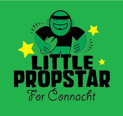 personalised baby clothes little propstar for connacht