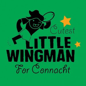 cutest little wingman for connacht personalised baby clothes