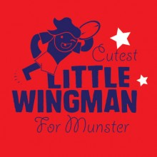 personalised baby clothes little wing man for munster