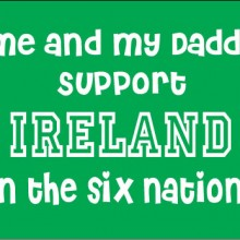 personalised baby clothes me and my daddy support ireland in the six nations