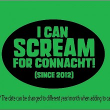 Scream Connacht Rugby personalised rugby clothes baby
