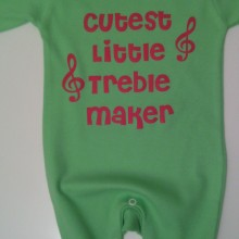 personalised baby clothes cutest little treble maker