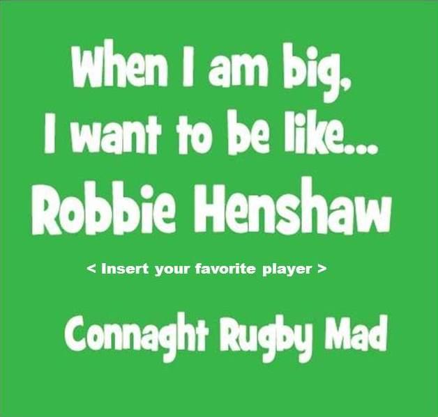 Be like Robbie Henshaw