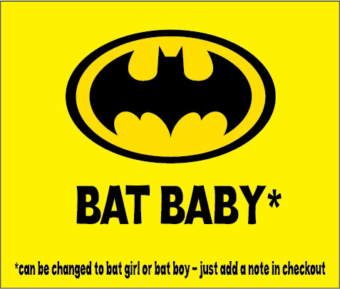 baby clothes personalised novelty bat baby