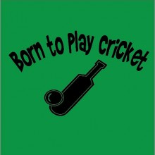 born to play cricket baby clothes gift