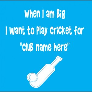 when i am big I want to play cricket for baby clothes