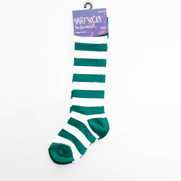 Green & White Baby Socks