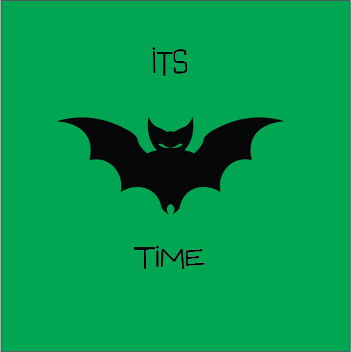 it's bat time halloween