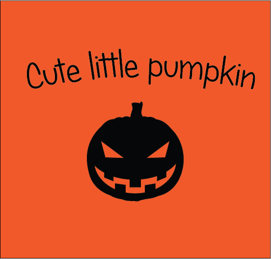 cute little pumpkin halloween