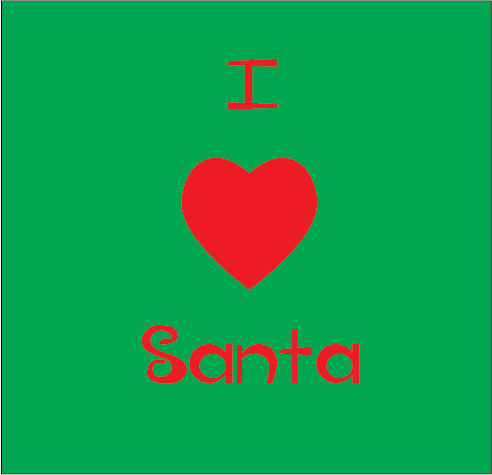 personalised baby clothes i love santa