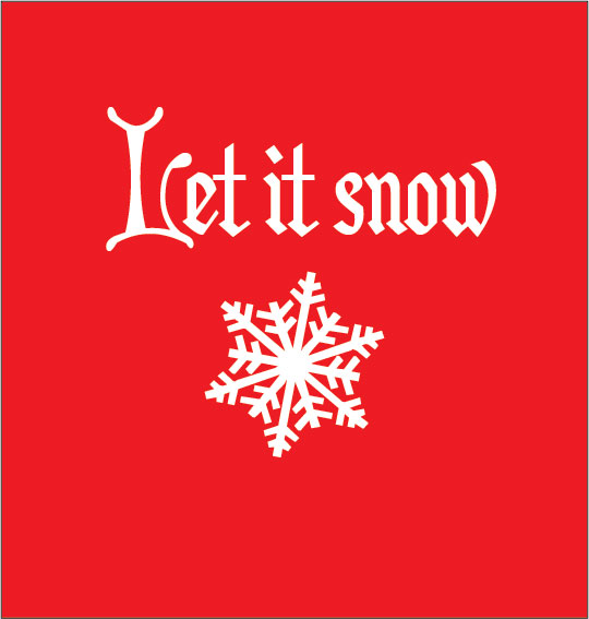 personalised baby clothes let it snow