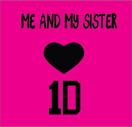 personalised baby clothes me and my sis love one direction 1D