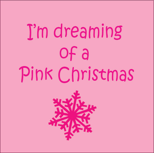 personalised baby clothes gifts i'm dreaming of a pink christmas