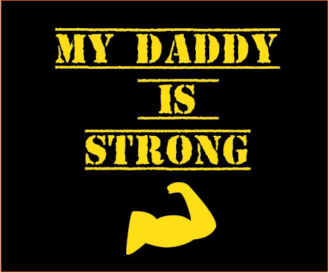 personalised baby clothes my daddy is strong