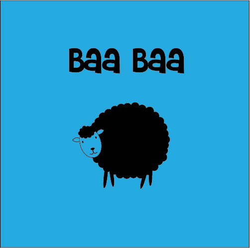 personalised baby clothes baa baa sheep