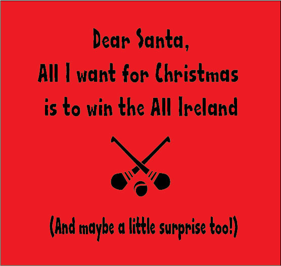 dear santa all i want for christmas is to win the all ireland personalised baby clothes