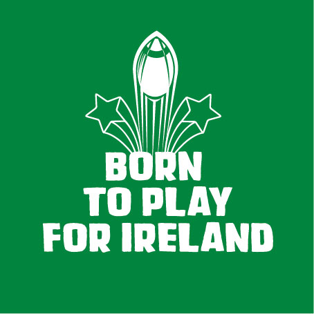 born to play ireland personalised baby clothes