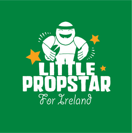 little prop ireland rugby personalised baby clothes