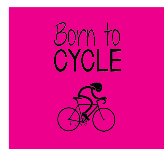 born to cycle personalised baby clothes